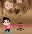 Valentines Day and Boyfriend Love Confess on Heart vector image
