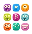 Monster Emoji Icons Collection vector image