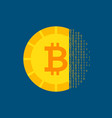 bitcoin cryptocurrency concept vector image