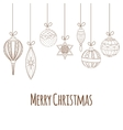 Christmas and New Year invitation card vector image