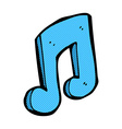 comic cartoon musical note vector image