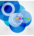 Geometric color circles modern template vector image