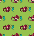 seamless pattern with dragon and the bear vector image
