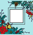 winter colorful frame vector image