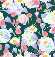fashion seamless texture with floral design vector image vector image