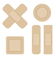 Set of Adhesive bandage vector image