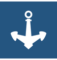 Anchor Isolated on Blue vector image