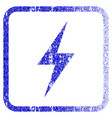 electricity framed textured icon vector image