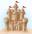 Sandcastle vector image vector image