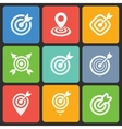Colorful target icons for web and mobile vector image vector image