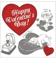 Valentines day - set vector image vector image