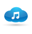 Cloud Computing Music Icon vector image