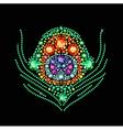 Diamond Peacock Feather vector image