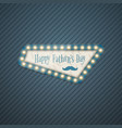 happy fathers day greeting card in retro style vector image