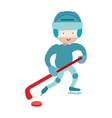 Hockey player boy vector image