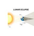 Lunar eclipse vector image