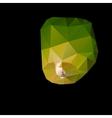 Polygonal green sky lanterns vector image