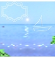 Summer background Bright sea and sky with a vector image