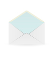 white envelope with blue inner part vector image