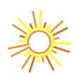 Flat the sun vector image