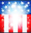 american flag patriotic background vector image vector image