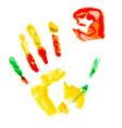 Paint print of human hand vector image