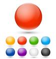 Realistic spheres vector image