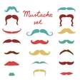Stylish retro mustaches set vector image