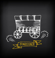 Stagecoach covered wagon Sketch design vector image