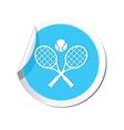 tennis BLUE LABEL vector image vector image