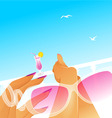 woman summer resting vector image