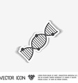 DNA helix Medical Research character vector image