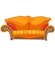 Cartoon home furniture sofa vector image