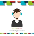 call center agent vector image