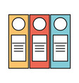 accountant folder book vector image