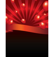 background with sunbeam and balloons vector image