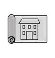 construction architecture blueprint house paper vector image
