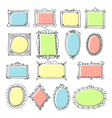 design elements Sketch of hand drawing frames and vector image