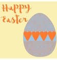 Happy easter poster egg with hearts vector image