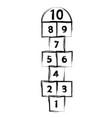 hopscotch game symbol of childhood vector image