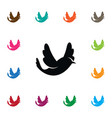 isolated martlet icon bird element can be vector image