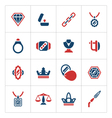Set color icons of jewelry vector image