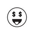 smiling cartoon face people emotion show tongue vector image