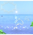 Travel background Bright blurred sea and sky with vector image