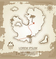vintage poster design with map of island vector image