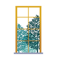 A view of window vector image vector image
