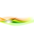 background green wave vhite horizontal vector image vector image