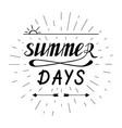 summer days hand written lettering vector image