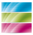 abstract wavy banners with stripes vector image vector image