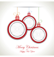 Abstract Christmas background with christmas toys vector image vector image